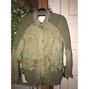 Anthropologie light military jacket size M
